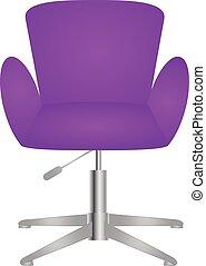 szykowny, elegancki, krzesło, nowoczesny, wygodny