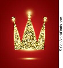 szykowny, korona, blask, królewski
