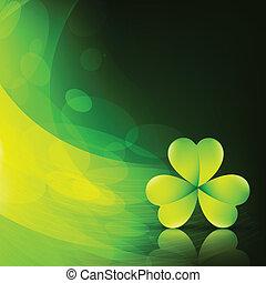 szykowny, liść, zielony