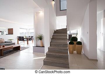 szykowny, nowoczesny, schody