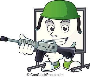 tábua, branca, equipamento, ensinando, exército