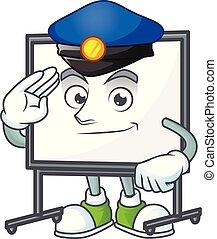tábua, branca, equipamento, polícia, ensinando