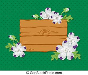 tábua, com, flores