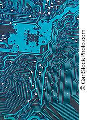 tábua, computador, close-up, circuito