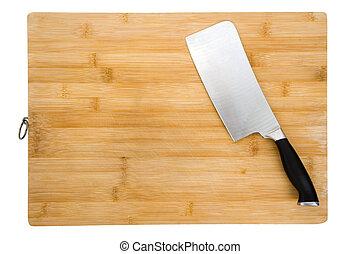 tábua cortante, e, faca cozinha
