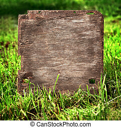tábua madeira, grama