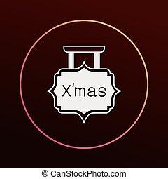 tábua, natal, ícone