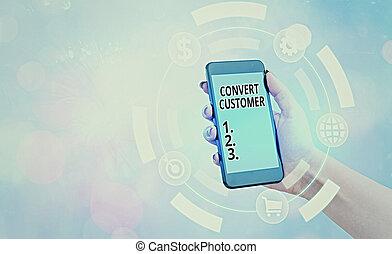 táctica, customer., mercadotecnia, conceptual, mano, plomos, showcasing, foto, buyer., escritura, empresa / negocio, converso, vuelta, actuación, estrategia