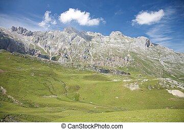 táj, alatt, cantabrian, hegyek