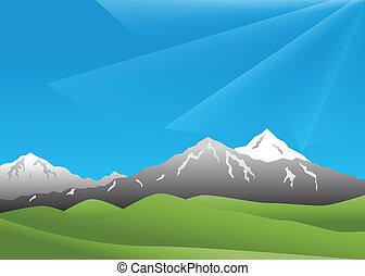 táj, hegyek