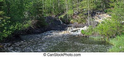 táj, noha, egy, folyó, alatt, a, erdő