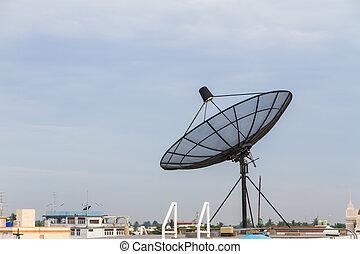 tál, mellékbolygó, roof., antenna