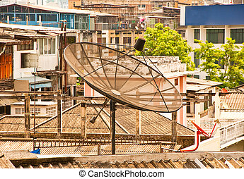 tál, város, satelite