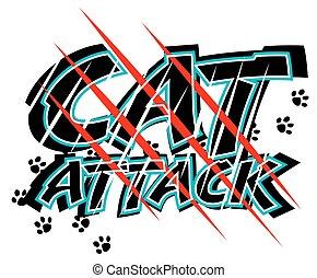 támad, macska