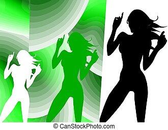 tánc, árnykép