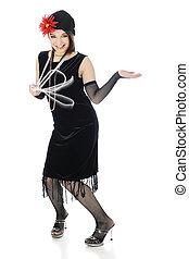 tánc, a, charleston