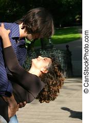 tánc, a parkban