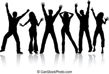 tánc, emberek