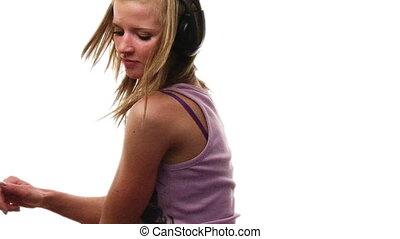 tánc, tizenéves, gyönyörű