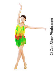 táncol, amerikai, latin