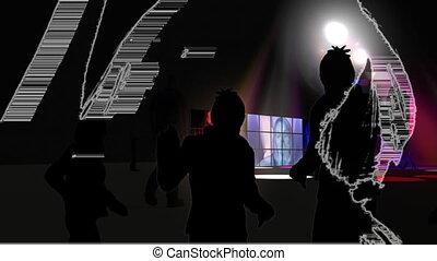 táncol, fiatal, performers