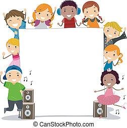 táncol, gyerekek, osztály