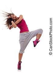 táncol, headbanging, lépés