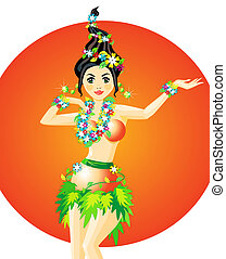 táncos, hula