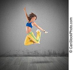 táncos, ugrál