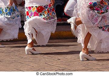 táncosok, folkloric, mexikó