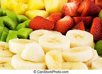 tányér, gyümölcs
