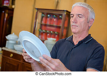 tányér, megünnepel, conservator
