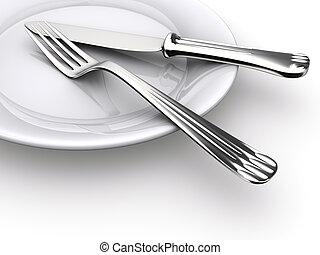 tányér, vacsora