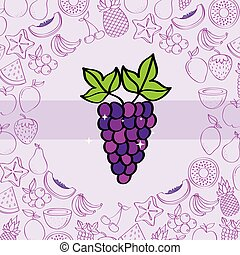táplálás, szőlő, szín, motívum, háttér, gyümölcs, rajz