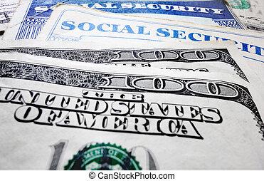 társadalmi értékpapírok kártya, és, pénz