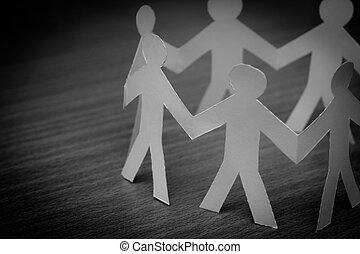 társadalmi, hálózat, fogalom, :, elzáródik, közül, emberek, kivág, közül, dolgozat, képben látható, wooden asztal