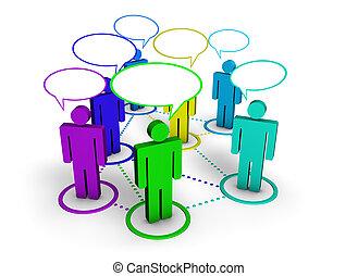 társadalmi, hálózat, közösség