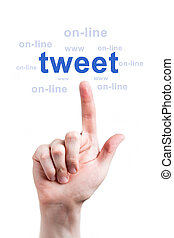 társadalmi, hálózat, online