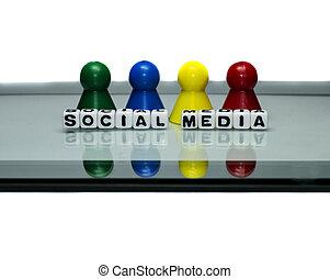 társadalmi, média