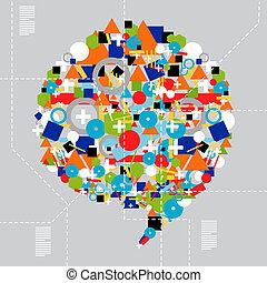társadalmi, média, változatosság, alatt, technológia