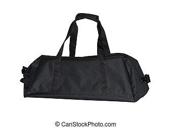 táska, sportszerű, fekete