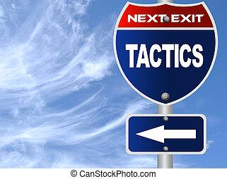 táticas, sinal estrada