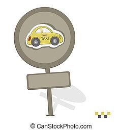táxi, ícone
