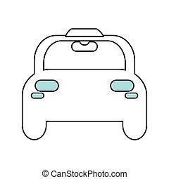 táxi, car, ícone