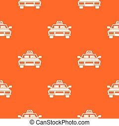 táxi, car, seamless, padrão