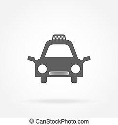 táxi, car, vetorial