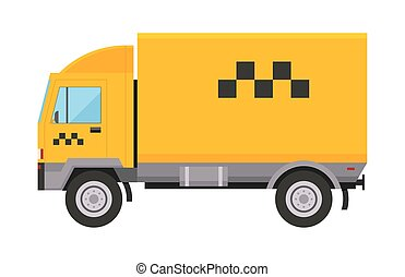 táxi, cidade, furgão, serviço, passageiro, transporte, car, símbolo, comercial, isolado, ilustração, sinal, entrega, vetorial, tráfego, amarela, automático, caminhão, ícone, urbano, táxi