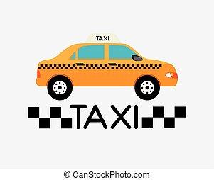 táxi, design.