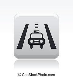 táxi, isolado, ilustração, único, vetorial, ícone