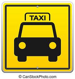 táxi, nova iorque, sinal